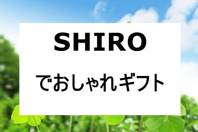 shiroプレゼント